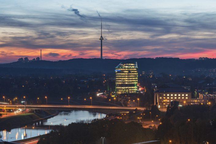 Vilniaus panorama naktį