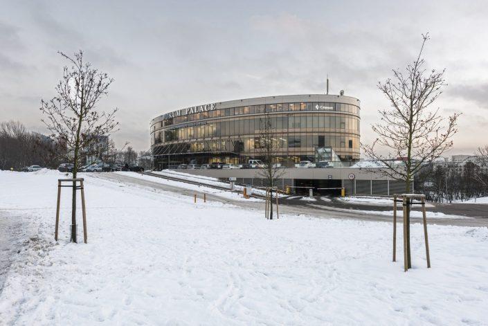 Forum Palace žiemą