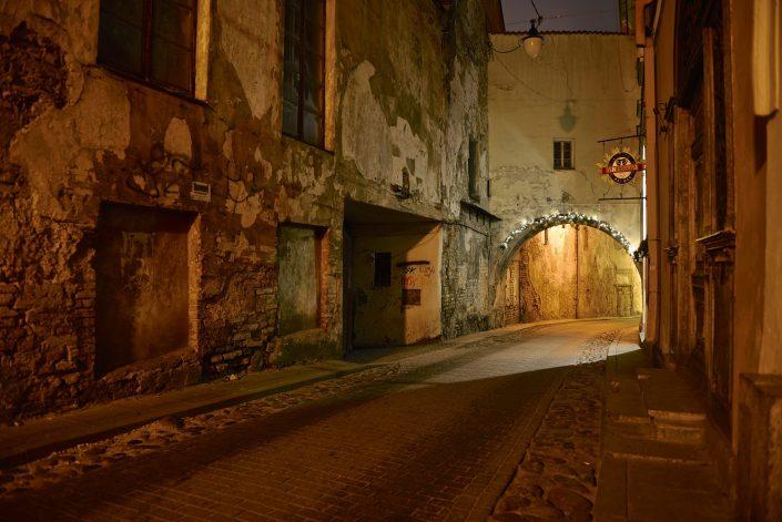 Vilniaus senamiestis naktį