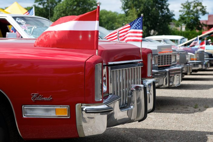 Amerikietiški automobiliai Palangoje