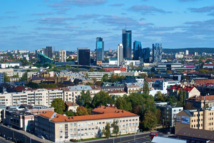 Žaliuojančio Vilniaus panorama
